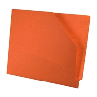 Diagonal Cut File Jacket Orange 100/Box