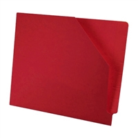 Diagonal Cut File Jacket Red 100/Box