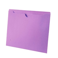 Colored File Jackets, Letter Size, 2-Ply Top Tab, Flat, 11pt Lavender, 100/Box