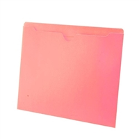 Colored File Jackets, Letter Size, 2-Ply Top Tab, Flat, 11pt Pink, 100/Box
