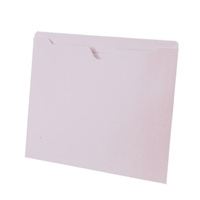 Colored File Jackets, Letter Size, 2-Ply Top Tab, Flat, 11pt White, 100/Box
