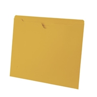 Colored File Jackets, Letter Size, 2-Ply Top Tab, Flat, 11pt Yellow, 100/Box