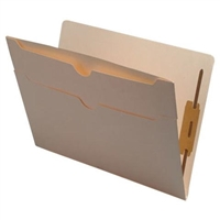 Manila Folder 11pt End Tab Double Outside-Pocket 2 Fasteners 50/Box