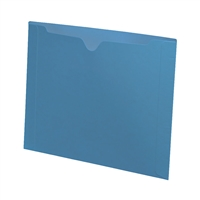 Colored File Jackets, Letter Size, Dental Style, 11pt Blue, 50/Box (S-9076-BLU)