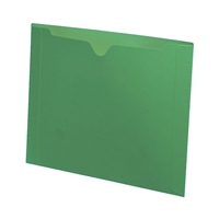 Letter size, closed on three sides, end tab, 11pt green, 50/Bx
