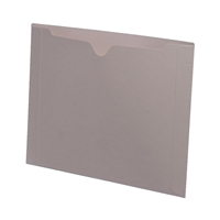 Colored File Jackets, Letter Size, Dental Style, 11pt Gray, 50/Box (S-9076-GRY)