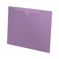 Colored File Jackets, Letter Size, Dental Style, 11pt Lavender, 50/Box (S-9076-LAV)