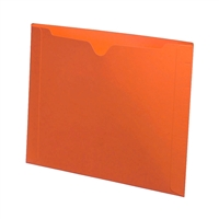 Colored File Jackets, Letter Size, Dental Style, 11pt Orange, 50/Box (S-9076-ORG)