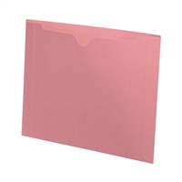 Colored File Jackets, Letter Size, Dental Style, 11pt Pink, 50/Box (S-9076-PNK)