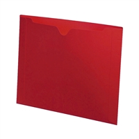 Letter size, closed on three sides, end tab, 11pt red, 50/Bx
