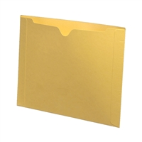 Colored File Jackets, Letter Size, Dental Style, 11pt Yellow, 50/Box (S-9076-YEL)