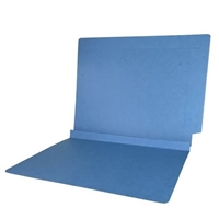 Colored End Tab Folders, 1-1/2 Expansion, Letter Size, Blue, 50/Bx