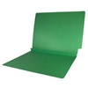 Colored End Tab Folders, 1-1/2 Expansion, Letter Size, Green, 50/Bx