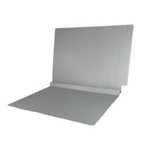 Colored End Tab Folders, 1-1/2 Expansion, Letter Size, Gray, 50/Bx