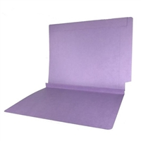 Colored End Tab Folders, 1-1/2 Expansion, Letter Size, Lavender, 50/Bx