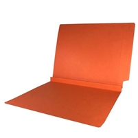 Colored End Tab Folders, 1-1/2 Expansion, Letter Size, Orange, 50/Bx