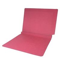 Colored End Tab Folders, 1-1/2 Expansion, Letter Size, Red, 50/Bx