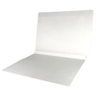 Colored End Tab Folders, 1-1/2 Expansion, Letter Size, White, 50/Bx
