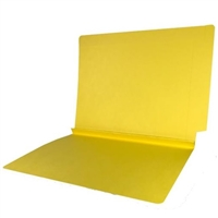 Colored End Tab Folders, 1-1/2 Expansion, Letter Size, Yellow, 50/Bx
