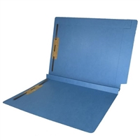 Colored End Tab Fastener Folders, 1-1/2 Expansion, Letter Size, Blue, 50/Bx