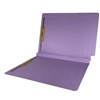 Colored End Tab Fastener Folders, 1-1/2 Expansion, Letter Size, Lavender, 50/Bx