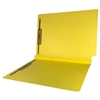 Colored End Tab Fastener Folders, 1-1/2 Expansion, Letter Size, Yellow, 50/Bx