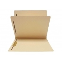 "Classification Folders, Letter Size, 1 Divider, 2"" Exp, 14pt Manila, 25/Box"