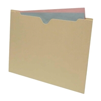 End Tab File Jacket, Flat-No Expansion, Letter Size, Manila, 50/Bx (S-9104)