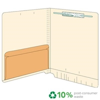 Manila Folder 11pt End Tab Left Panel Kraft Pocket 50/Box