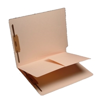 "Classification Folders, End Tab, Letter Size, 1/2"" Exp, 3 Fasteners, 1 Divider, 1 Pocket, 11pt Manila, 50/Bx"