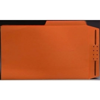 Top Tab Case Binders, Letter Size, 1/2-Cut Assorted Tabs, Orange, Box/50