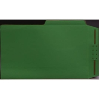 Top Tab Case Binders, Legal Size, 1/2-Cut Assorted Tabs, Green, Box/50