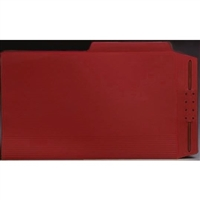Top Tab Case Binders, Legal Size, 1/2-Cut Assorted Tabs, Red, Box/50
