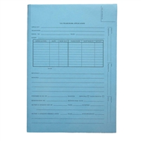 Patent Folders, Top Tab, Tri-Fold, Printed 2-Sides, Blue, 25/Box