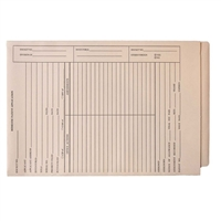 Patent Folders, End Tab, Tri-Fold, Printed 2-Sides, Manila, 25/Box