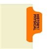 Chart Divider Tab, Position 1, Orange, History/Physical, Pack/100