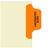 Chart Divider Tab, Position 1, Orange, Pap/Colonoscopy, Pack/100