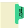 Chart Divider Tab, Position 2, Lt. Green, Diagnostic Testing, Pack/100