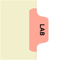 Chart Divider Tab, Position 3, Pink, Lab, Pack/100