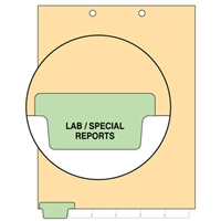 Chart Divider, Bottom Tab, Position 1, Lt. Green, Lap/Spec Reports, Pack/100