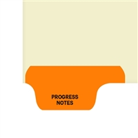 Chart Divider, Bottom Tab, Position 1, Orange, Progress Notes, Pack/100