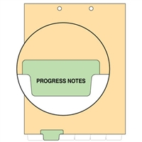 Chart Divider, Bottom Tab, Position 2, Lt. Green, Progress Notes, Pack/100