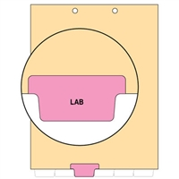 Chart Divider, Bottom Tab, Position 3, Pink, Lab, Pack/100