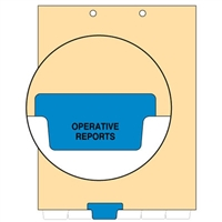 Chart Divider, Bottom Tab, Position 3, Blue, Operative Reports, Pack/100