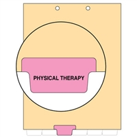 Chart Divider, Bottom Tab, Position 3, Pink, Physical Therapy, Pack/100