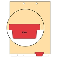 Chart Divider, Bottom Tab, Position 5, Red, Ekg, Pack/100