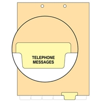 Chart Divider, Bottom Tab, Position 5, Lt. Yellow, Telephone Messages, Pack/100