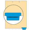Chart Divider, Bottom Tab, Position 6, Blue, Correspondence, Pack/100