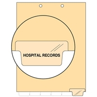 Chart Divider, Bottom Tab, Position 6, Clear, Hospital Records, Pack/100