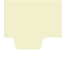 Chart Divider, Bottom Tab, Position 1, Clear, Blank, Pack/100